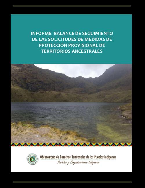 Seguimiento de solicitudes de medidas de protección provisional de territorios indígenas