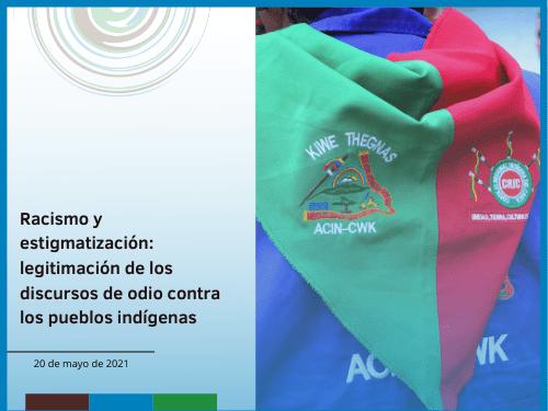 Portada racismo y estigmatización contra pueblos indígenas