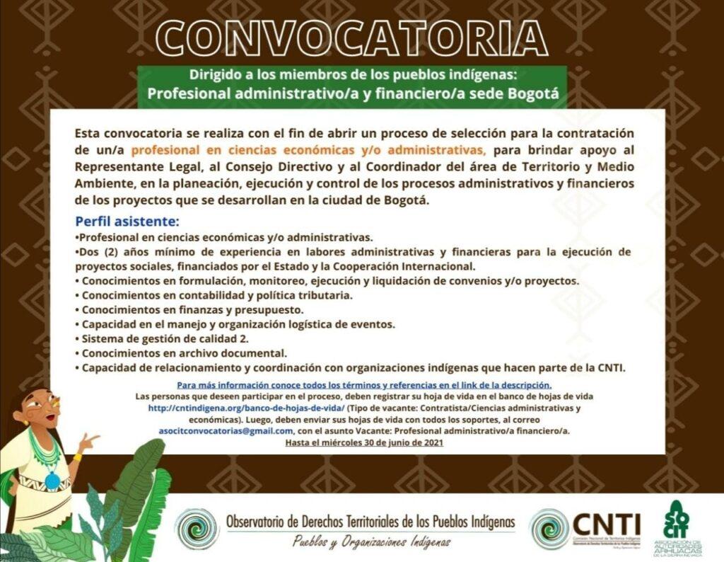 TERMINOS DE REFERENCIA PROFESIONAL ADMINISTRATIVO BOGOTA
