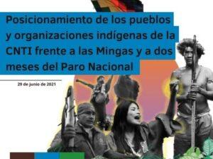 Posicionamiento CNTI Mingas y Paro Nacional